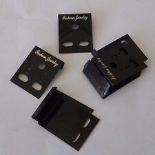 100 Stück Ohrring Display Karten Ohrringhalter  in schwarz