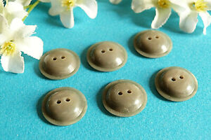 """807B Stunning Buttons """" Comet """" Grey Iridescent Lot Of 6 Buttons Period Vintage"""