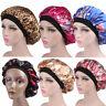 Unique Lady Satin Sleep Cap Hair Bonnet Hat Head Cover Wide Elastic Turban Decor