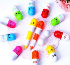 stylo rétractable pilule BLEU