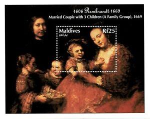 VINTAGE CLASSICS - Maldives 1941 - A Family Group Rembrandt - S/S - MNH