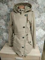 Naketano women's winter jacket size XS beige colour hooded