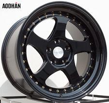 AODHAN AH01 18x10.5 5x114.3 +25 Black (PAIR) wheels
