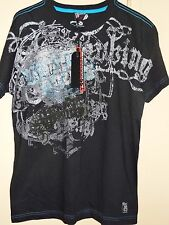 Vintage Fifty Five 55 Black Gray Blue Size M Custom Graphic T Shirt NEW NWT