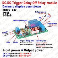 12v 24v Dc Led Display Trigger Timer Delay Switch Turn On Off Time Relay Module