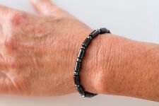 MAGNETIC HEMATITE OBLONG BEAD RETRACTABLE BRACELET - MAGNETIC THERAPY