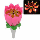 Candle Pink Surprising Love Musical Lotus Birthday Party Cake Topper Plastic