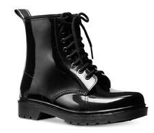 NIb Michael KORS TAVIE MK CONTRAST LOGO BLACK LACE UP SHORT RAIN BOOT size 7m