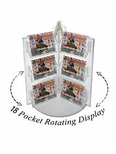 18 Pocket Spinning Business Gift Card Holder Counter top Rack Display Carousel
