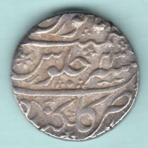 MUGHAL INDIA AURANGZEB ALAMGIR GOLKUNDA MINT SILVER RUPEE FULL MINT RARE COIN