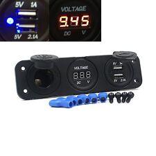 12V Enchufe De Mechero De Coche Voltímetro cargador USB Para GPS Móvil Caliente