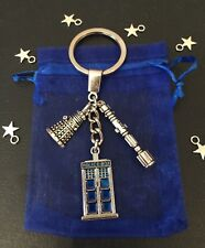DR DOCTOR WHO TARDIS Sonic Screwdriver DALEK Pendant Charm KEYCHAIN KEYRING