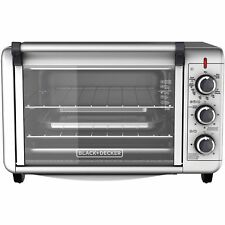 6-Slice Convection Countertop Toaster Oven Silver TO3000G BLACK+DECKER BRAND NEW