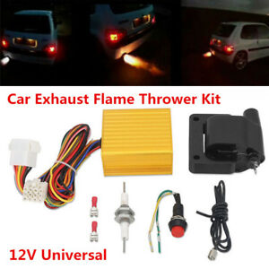 Car Exhaust Flame Thrower Kit Professional for Exhaust Tail Pipe Fire Burner 12V
