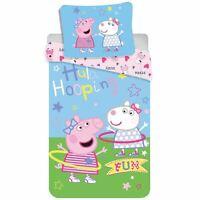 Peppa Pig Hula Set Housse de Couette Simple Coton Européen Taille Enfants