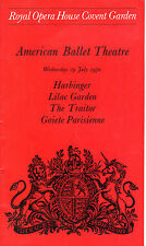 "AMERICAN BALLET THEATRE AT COVENT GARDEN - ""HARBINGER"" & ""THE TRAITOR"" (1970)"