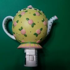 Mary Engelbreit Yellow Tea Pot Night Light- Time For Tea- Michel & Co