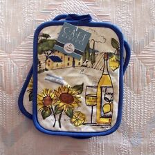 Sunflower Wine Pot Holder Set Kay Dee Tuscan Sun Pattern