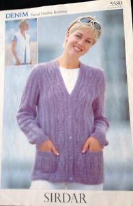 "Sirdar  Knitting Pattern DK  Ladies Long Cardigan & Waistcoat  Size 32/42""..."