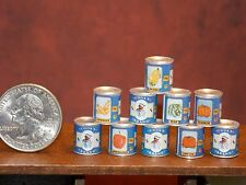 Dollhouse Miniature FOOD 10 Cans Vegetables A 1:12 Inch Scale F52 Dollys Gallery