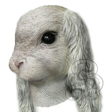 Latex Full Head Animal Floppy Ears Rabbit Hare Fancy Props Carnival Party Masks