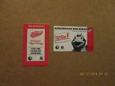 Ahl Adirondack Red Wings Vintage 1993-94 & 1996-97 Team Logo Pocket Schedules