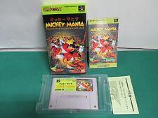 SNES -- MICKEY MANIA -- Boxed. Super famicom. Japan game. 14959