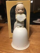 "1985 Precious Moments Collection ""God Sent His Love"" Porcelain Bisque Bell 15873"