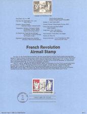 #8917 45c French Revolution Stamp #C120 USPS Souvenir Page