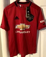 New Adidas Youth Large Manchester United Jersey 2019/20 Home ManU Kids Red L NWT
