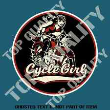 CYCLE GIRL DECAL STICKER VINTAGE HOT ROD MOTROBIKE MOTORCYCLE DECALS STICKERS