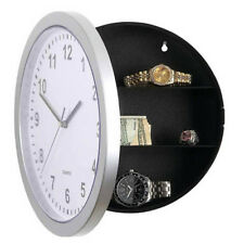 Analog Round Wall Clock Storage Box Jewelry Holder Safes Tools Home Decor Kit