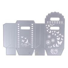 Scrapbooking Bowknot Candy Gift Box Butteryfly Metal Cutting Dies Stencils S1#