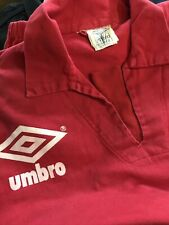 Vintage 90s Umbro Pro Training Drill Top Pullover Football Red L Large