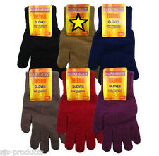 Ladies Womens Thermal Knitted Gloves Winter Warm Walking Work Outdoor Brand NEW