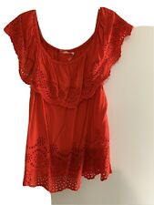 Red Xmas Top off the shoulder Size 18