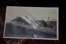 Iowa Central Rr (M&Stl) Depot Vintage Postcard New Sharon, Iowa Rare Postcard