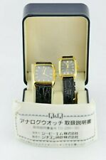 J671 Vintage Citizen Q&Q Voken Pair Watch For Him and Her Couples Watches 22.3