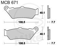 TRW Lucas Bremsbeläge MCB671 hinten BMW R 1200 GS LC ABS