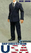 "1/6 Men Suit Full Set NAVY For 12"" Hot Toys Phicen Male Figure - U.S.A. SELLER"