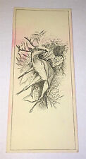 Antique Victorian Deer Puzzle Advertising A.B Sanborn! Clothing & Hat Trade Card