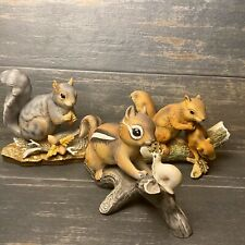 Masterpiece Collection By Homco Squirrel Chipmunk Vtg. Figurines 3pc. Lot
