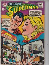 80 Pg Giant SUPERMAN #212 DC 1968 G