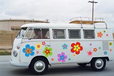 Hippie Blumen Autoaufkleber Hippie 030 - in edler Matt Optik, bunt gemischt