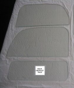 1941-1946 CHEVROLET /GMC TRUCK GLASS PICK UP DOOR GLASS AND BACK GLASS CLEAR NEW