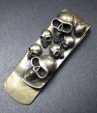 Skull Blood Vintage Créateur Argent Sterling Pince à Billets