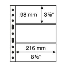 5 Pochettes plastiques GRANDE  avec 3 Bandes horizontales noir  - Réf  305160