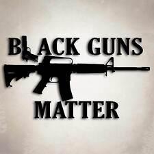 Black Guns Matter AR 15 Decal Sticker NRA Rifle Pistol 2nd Amendment