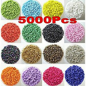 Lots 5000Pcs Opaque Glass Beads Jewelry Finding DIY Craft 2MM U Pick Color