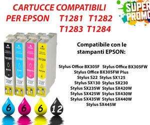 30 CARTUCCE COMPATIBILI STAMPANTE EPSON STYLUS 1281 S22 SX125 SX130 SX230 SX235W